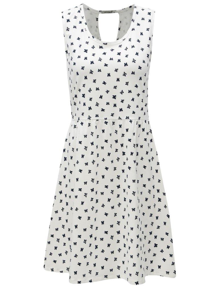 Bílé šaty s motivem motýlů  a s průstřihem na zádech Haily´s Mina