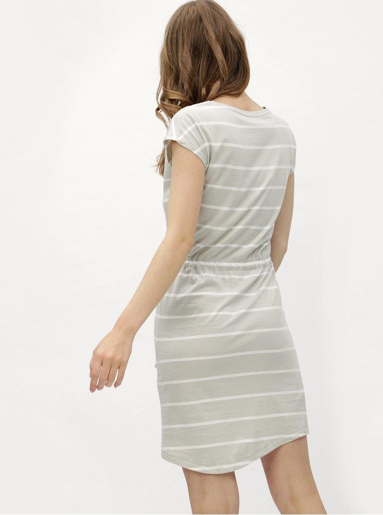 Bílo-šedé pruhované šaty Haily´s Olivia