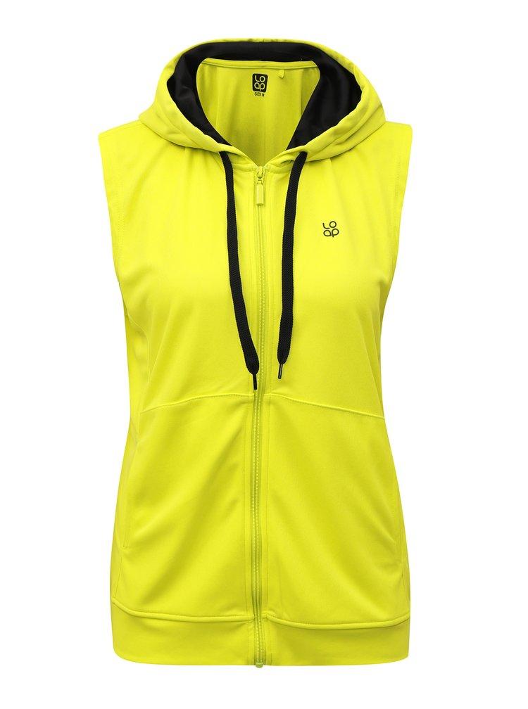 Neonově žlutá dámská lehká vesta s kapucí LOAP Malory