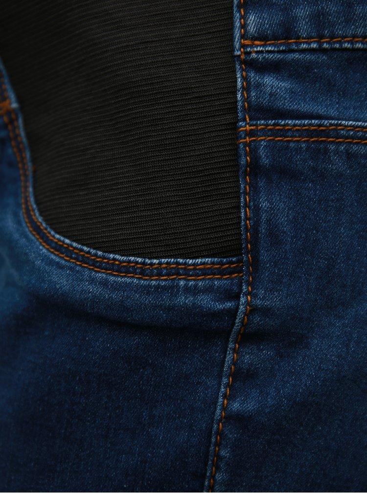 Tmavě modré těhotenské slim džíny s pružnou gumou u pasu Mama.licious Lola