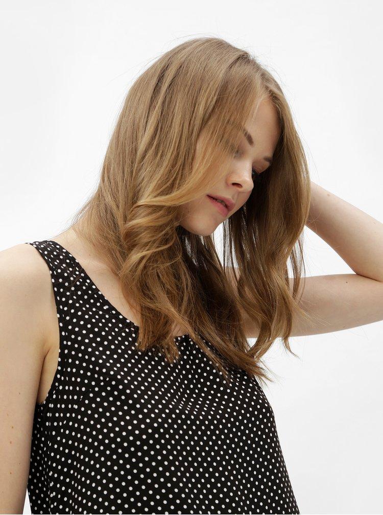 Top alb-negru cu buline si fermoar la spate Haily´s Cami Roxanne