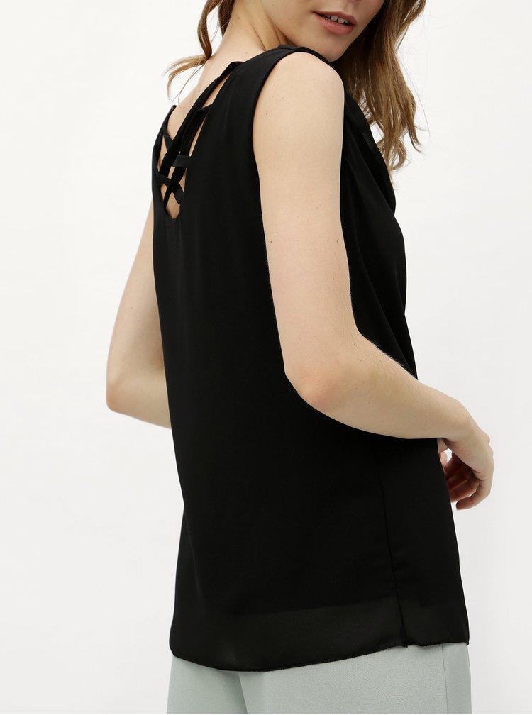 Černá oversize halenka s pásky na zádech Haily´s Ceyda