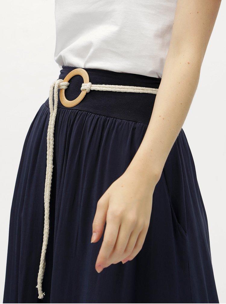 Tmavě modrá maxisukně s páskem Haily's Candy