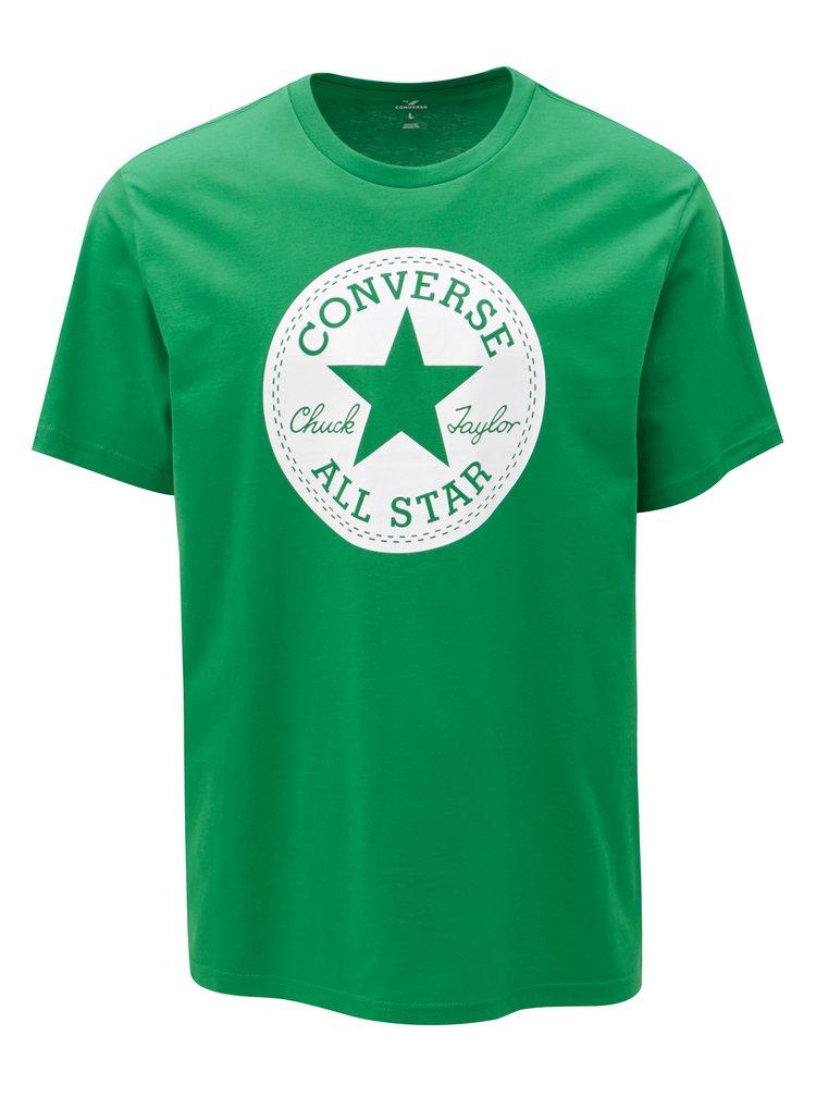Zelené pánské tričko s potiskem Converse Chuck Patch