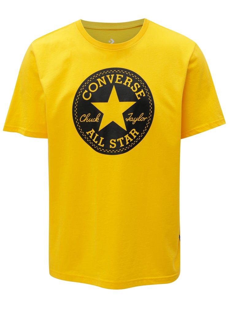 Žluté pánské tričko s potiskem Converse Chuck Patch