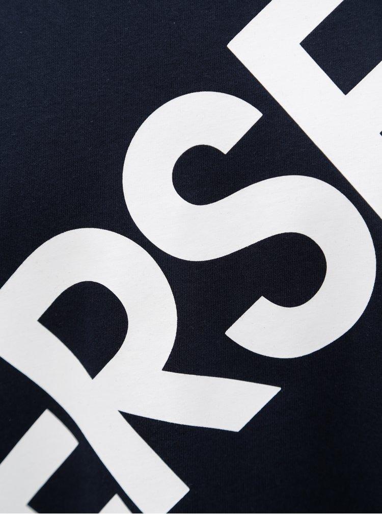 Tmavě modré pánské tričko s potiskem Converse Cross Body