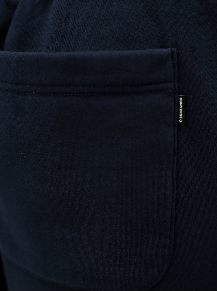 Tmavě modré pánské tepláky s kapsami Converse Core Jogger