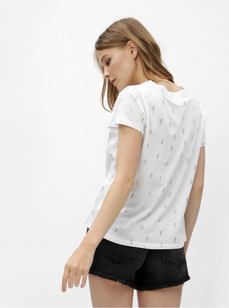 Bílé tričko s potiskem ananasů Haily´s Lenya