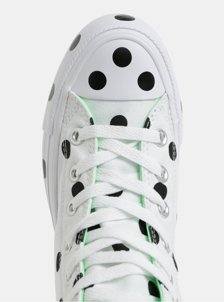 Tenisi negru-alb cu buline Converse Chuck Taylor All Star