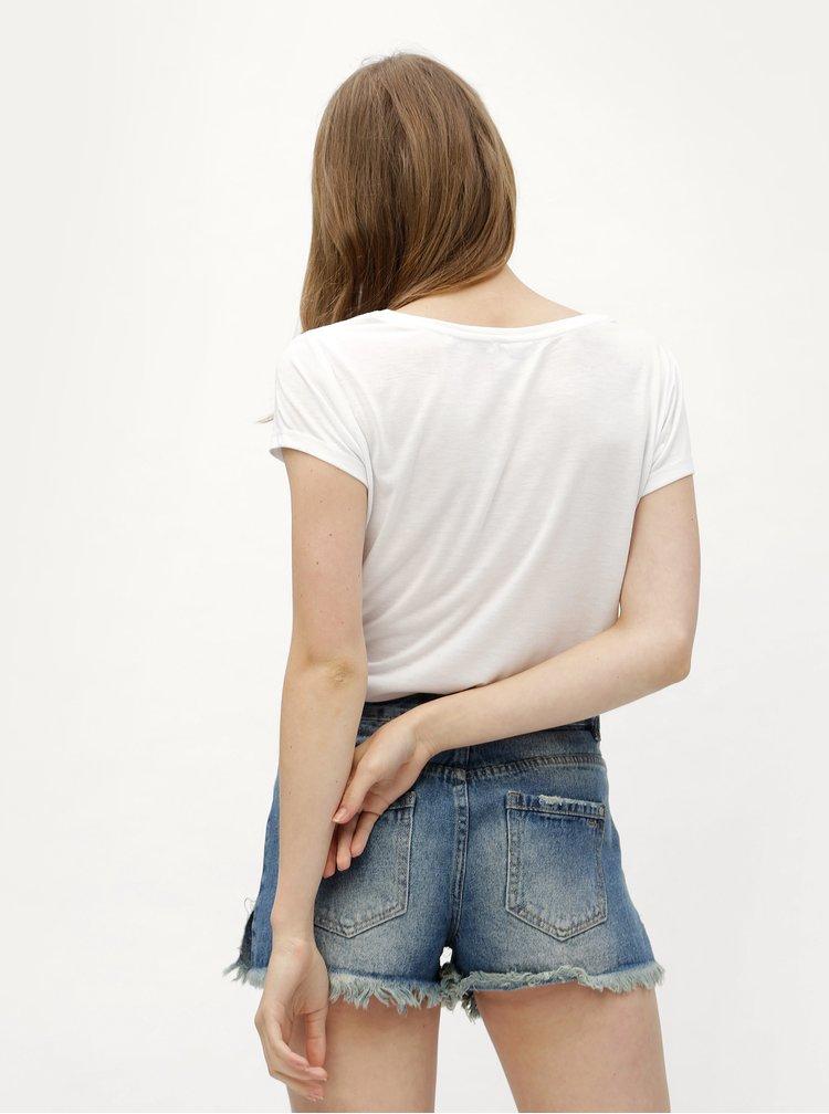 Bílé dámské tričko s potiskem Haily´s Mick