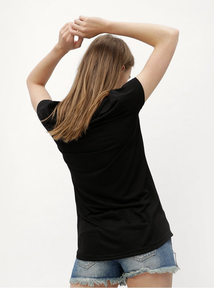 Černé tričko s potiskem Haily´s Micka