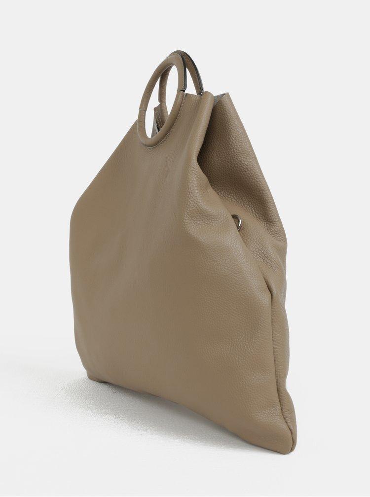 Béžová kožená kabelka s pouzdrem 2v1 ZOOT