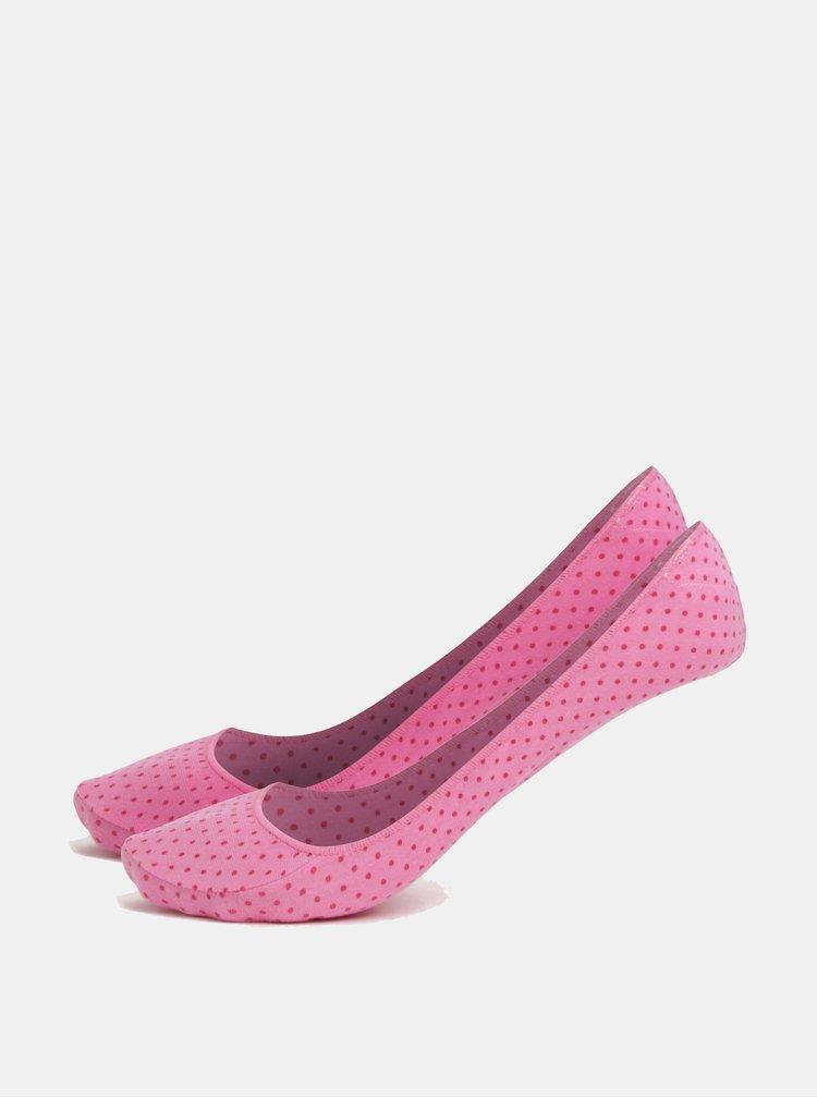 Sada dvou párů růžových vzorovaných ponožek Andrea Bucci Second 60 DEN