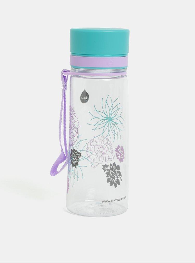 Plastová lahev s potiskem květin EQUA 400 ml