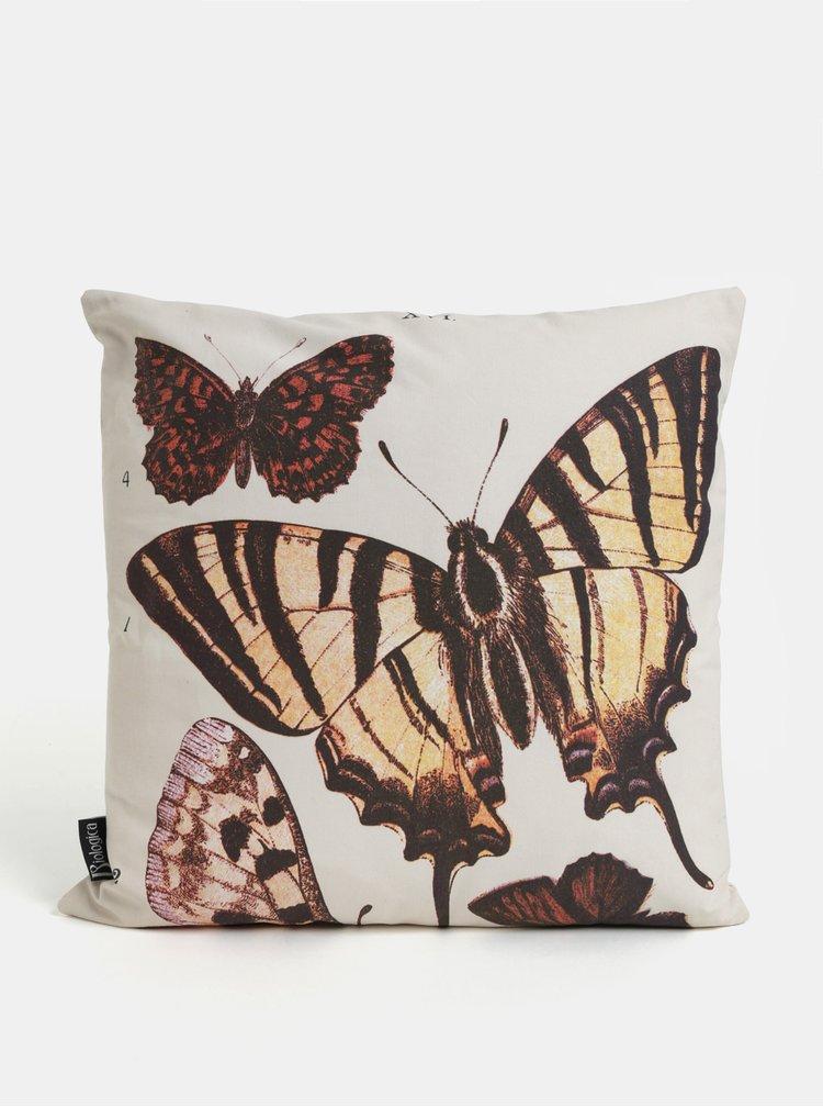 Krémový polštář s motivem motýlů Magpie