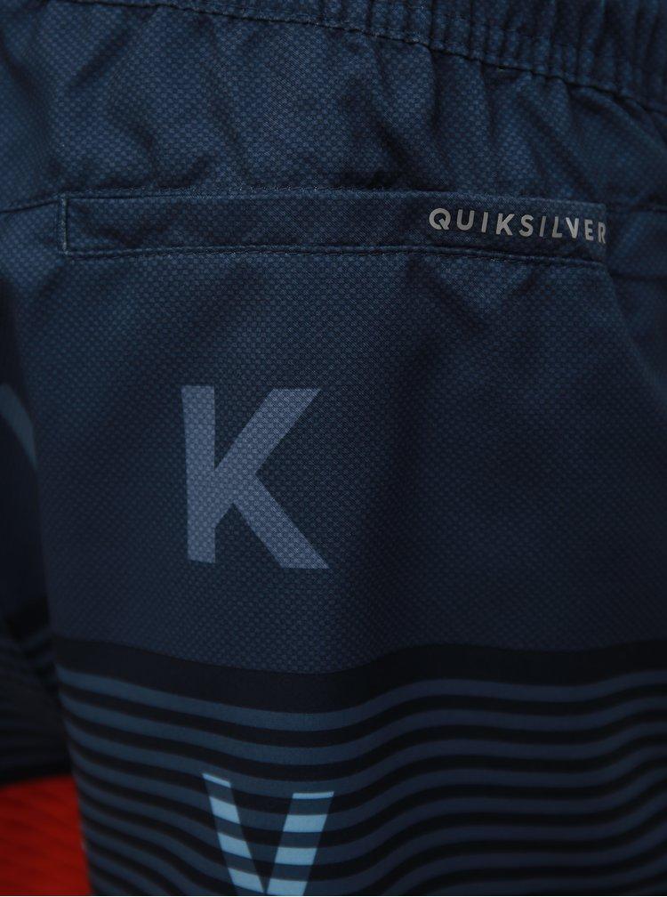 Modré pánské plavky s nášivkou Quiksilver