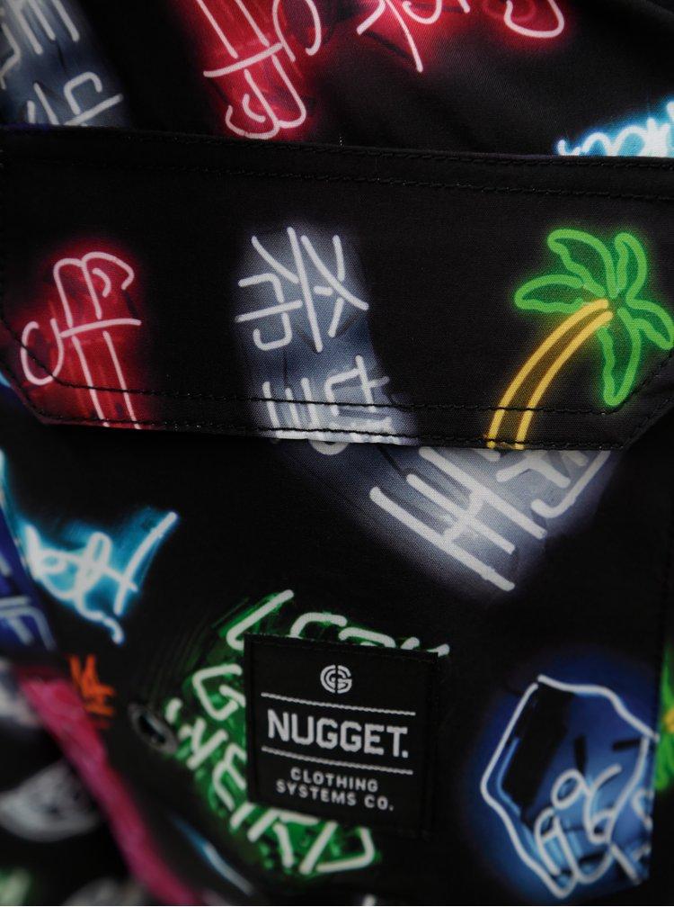 Černé pánské vzorované plavky NUGGET Colby