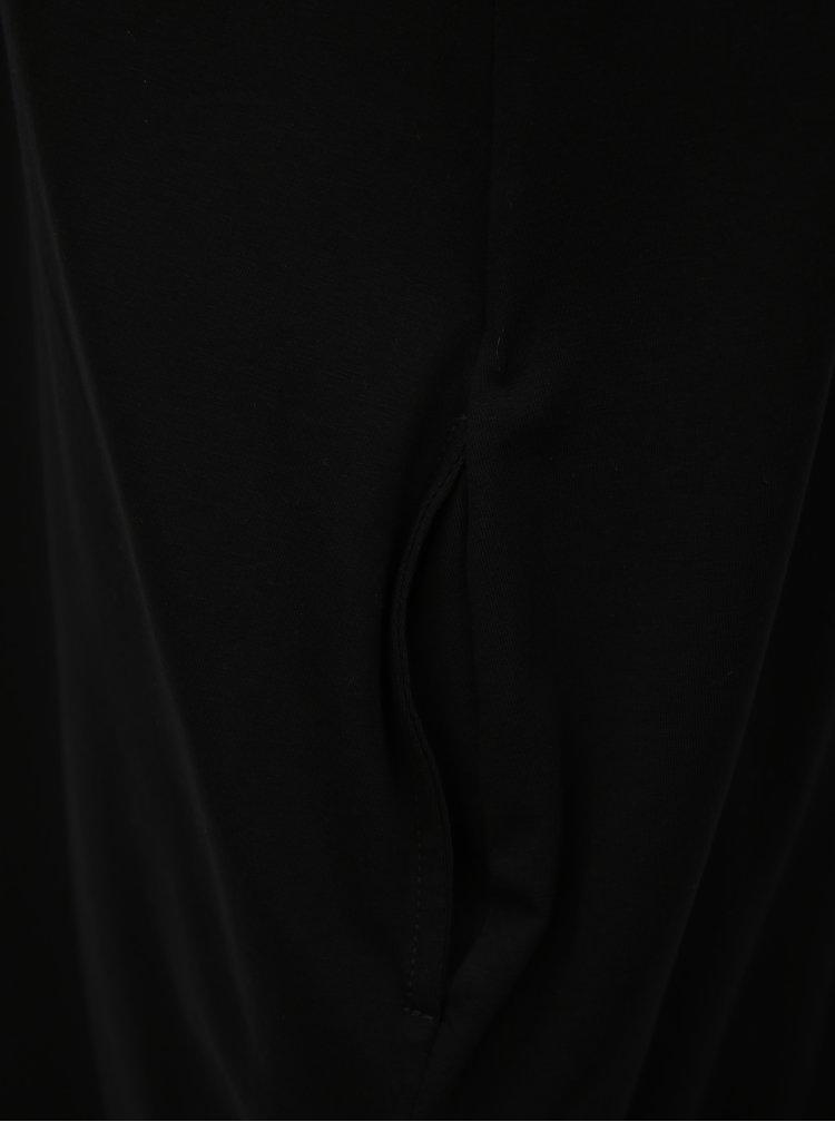 Bílo-černé balónové šaty bez rukávů Mikela da Luka