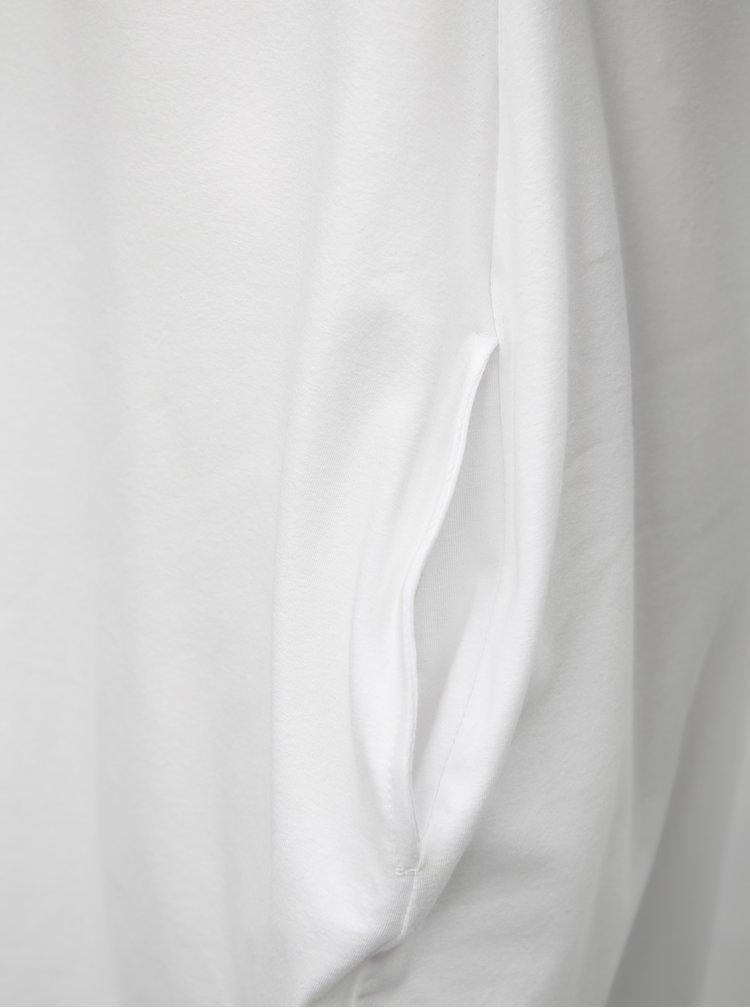 Rochie balon alba cu print negru Mikela da Luka