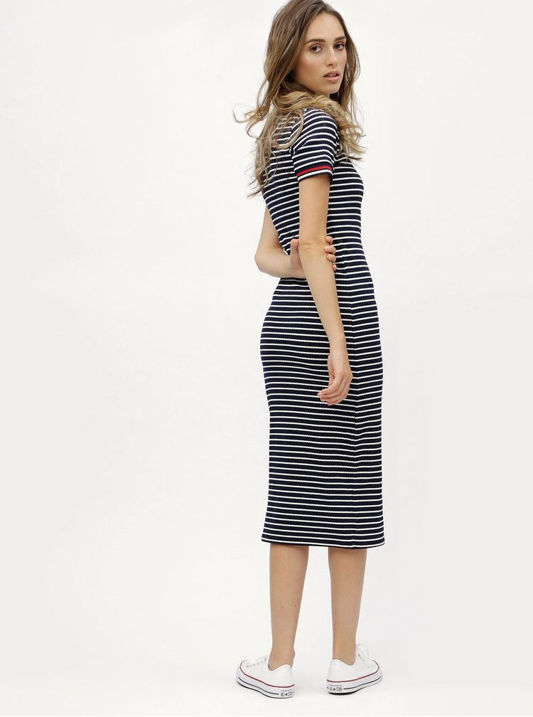 Tmavě modré pruhované šaty ONLY Lou