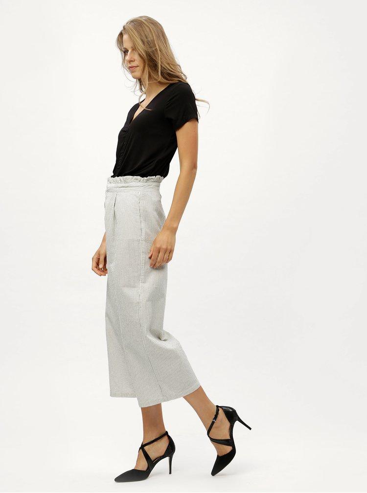 Černo-bílé pruhované culottes ONLY Annelle
