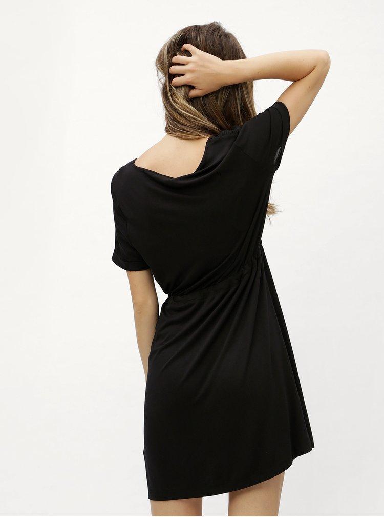 Černé šaty se stahováním v pase  Dorothy Perkins