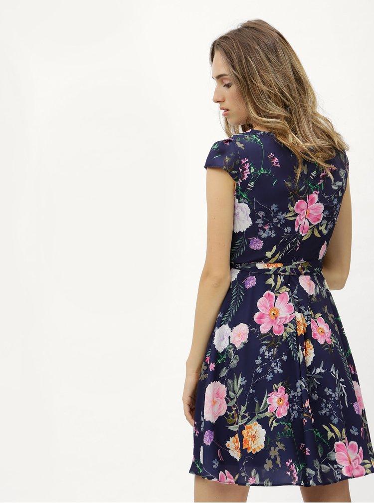 Tmavě modré květované šaty Billie & Blossom Petite