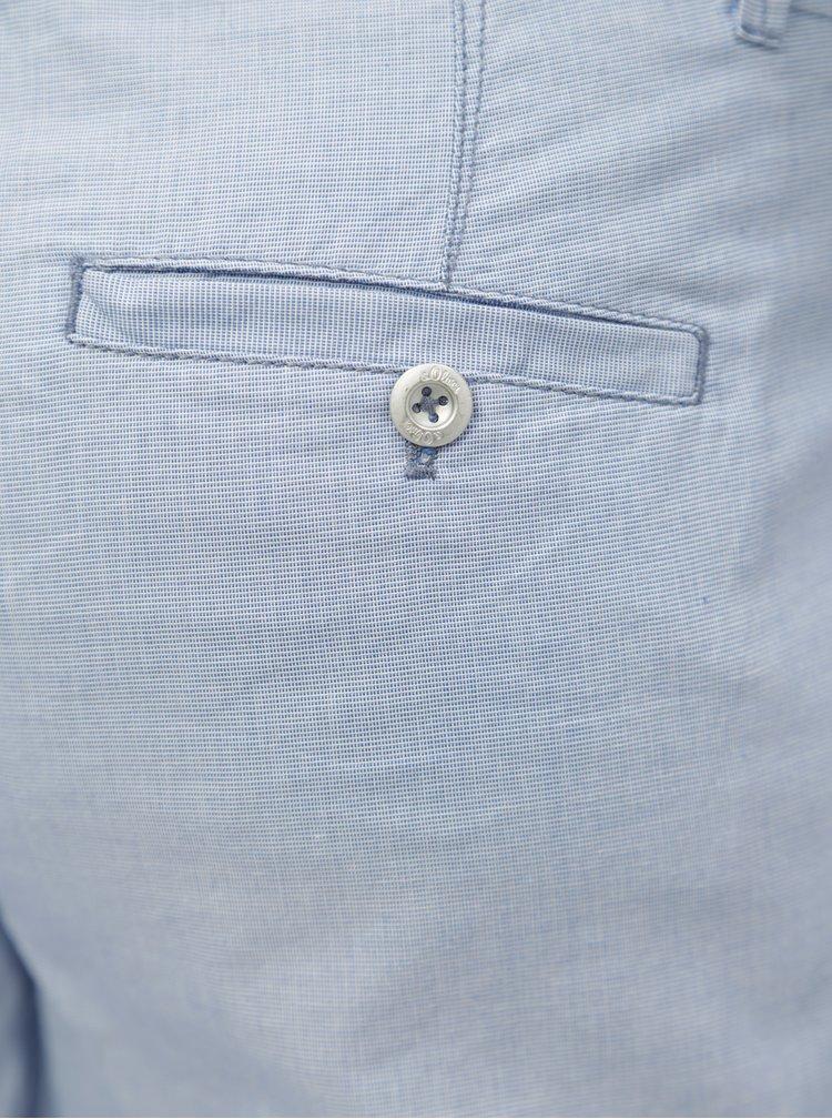 Světle modré dámské chino zkrácené kalhoty s.Oliver
