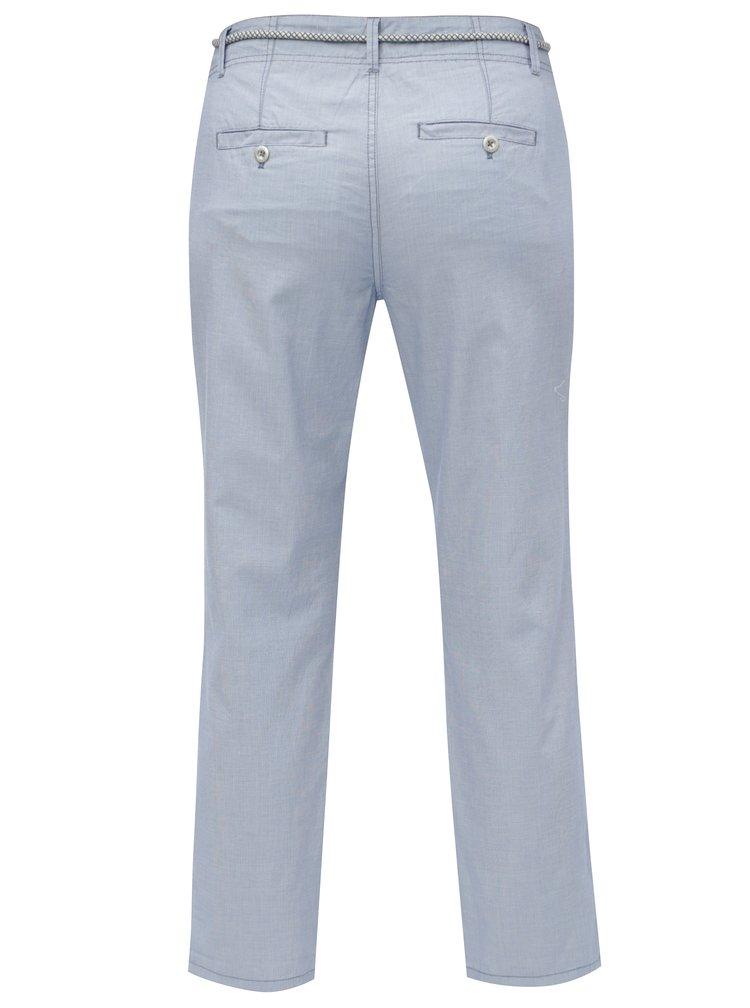Pantaloni de dama albastru deschis crop chino s.Oliver