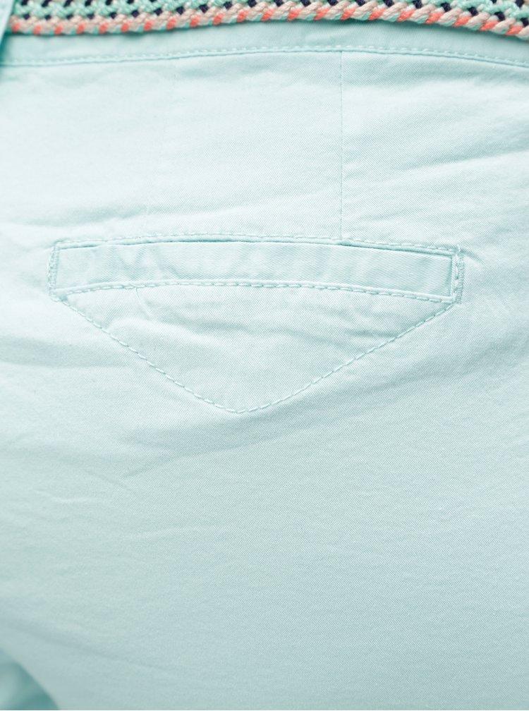 Mentolové dámské zkrácené kalhoty s.Oliver