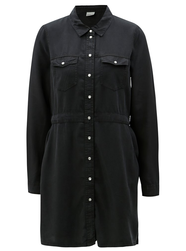 Černé košilové šaty Noisy May Cassy