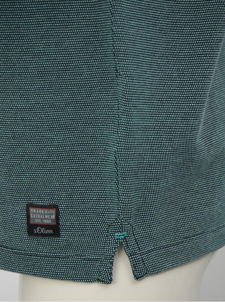 Modré pánské regular fit polo tričko s.Oliver