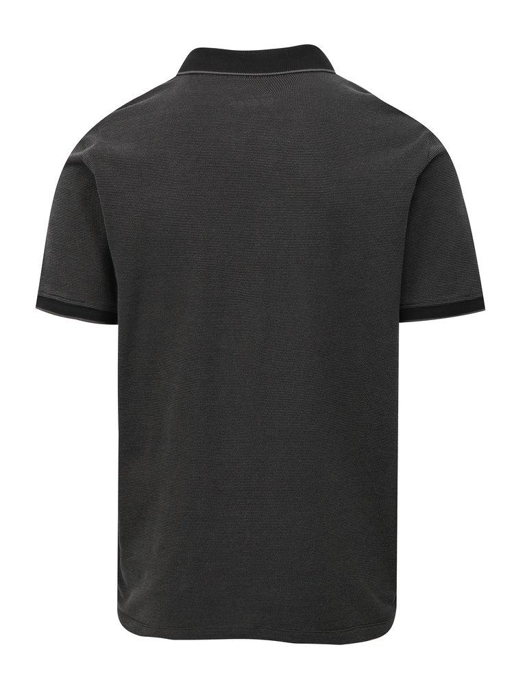 Šedé pánské regular fit polo tričko s.Oliver