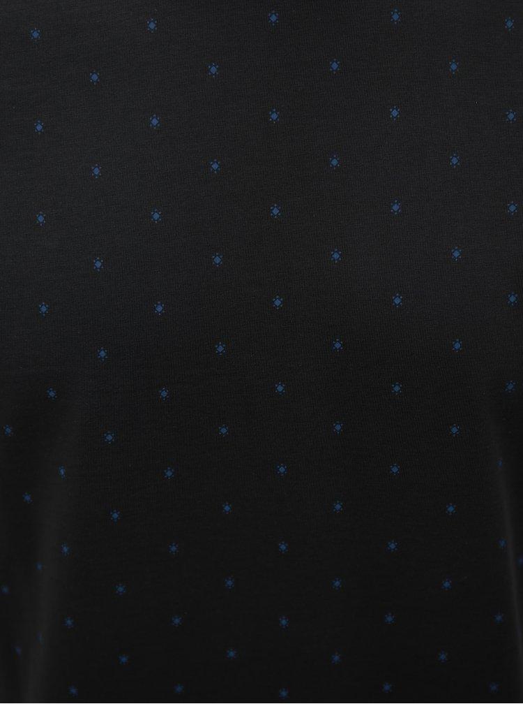 Šedé pánské slim fit vzorované tričko s.Oliver