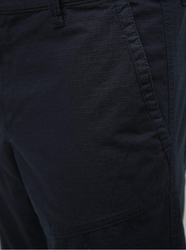 Tmavě modré pánské straight kraťasy s.Oliver