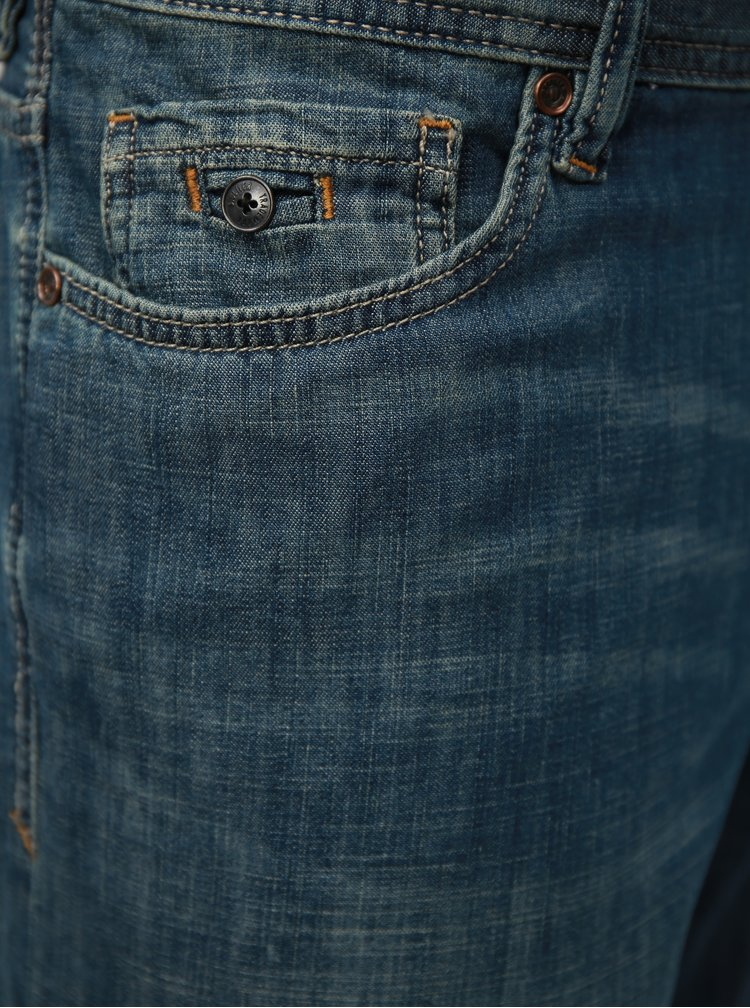 Modré pánské regular fit džínové kraťasy kraťasy s.Oliver