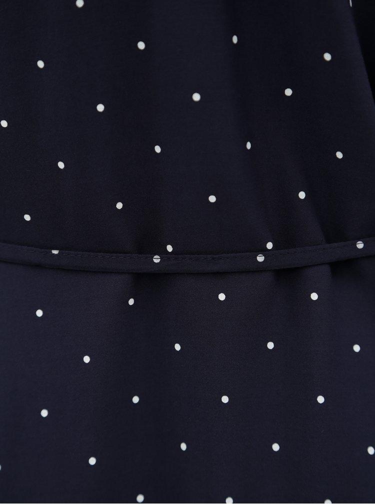 Tmavě modrá puntíkovaná  halenka s.Oliver