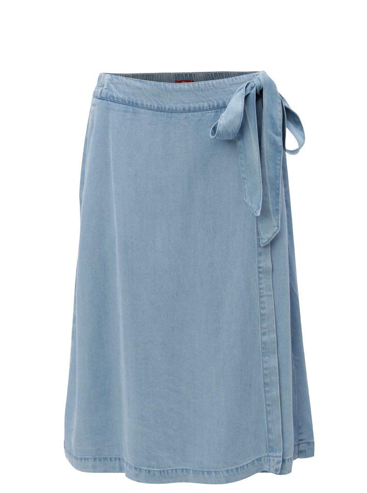Modrá džínová sukně s páskem s.Oliver