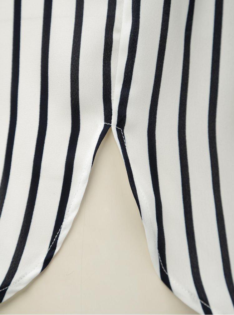 Čierno-biela pruhovaná voľná blúzka VILA Lucy