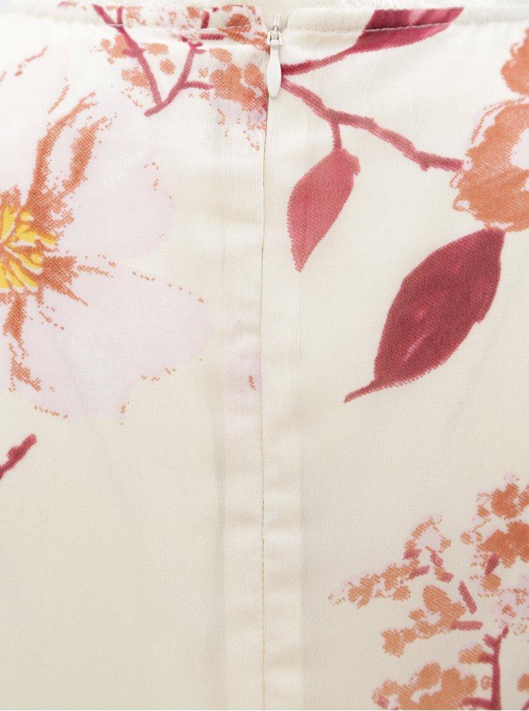 Krémové květované těhotenské šaty s krajkou Mama.licious Veronica
