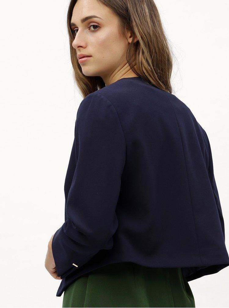 Tmavě modré zkrácené sako s detaily ve zlaté barvě  Dorothy Perkins