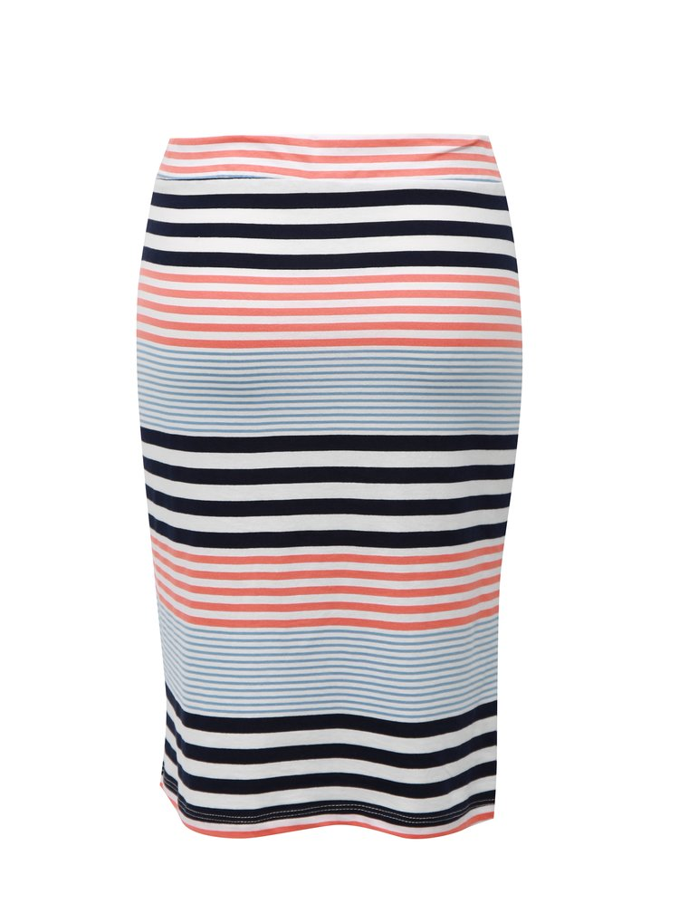 Modro-biela pruhovaná sukňa Broadway Francelle