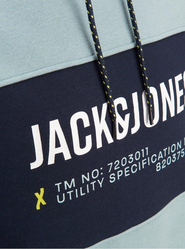 Světle modrá mikina s potiskem Jack & Jones Part