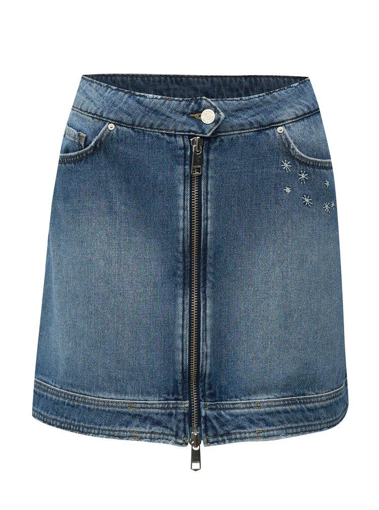 Modrá džínová minisukně s výšivkou Tommy Hilfiger