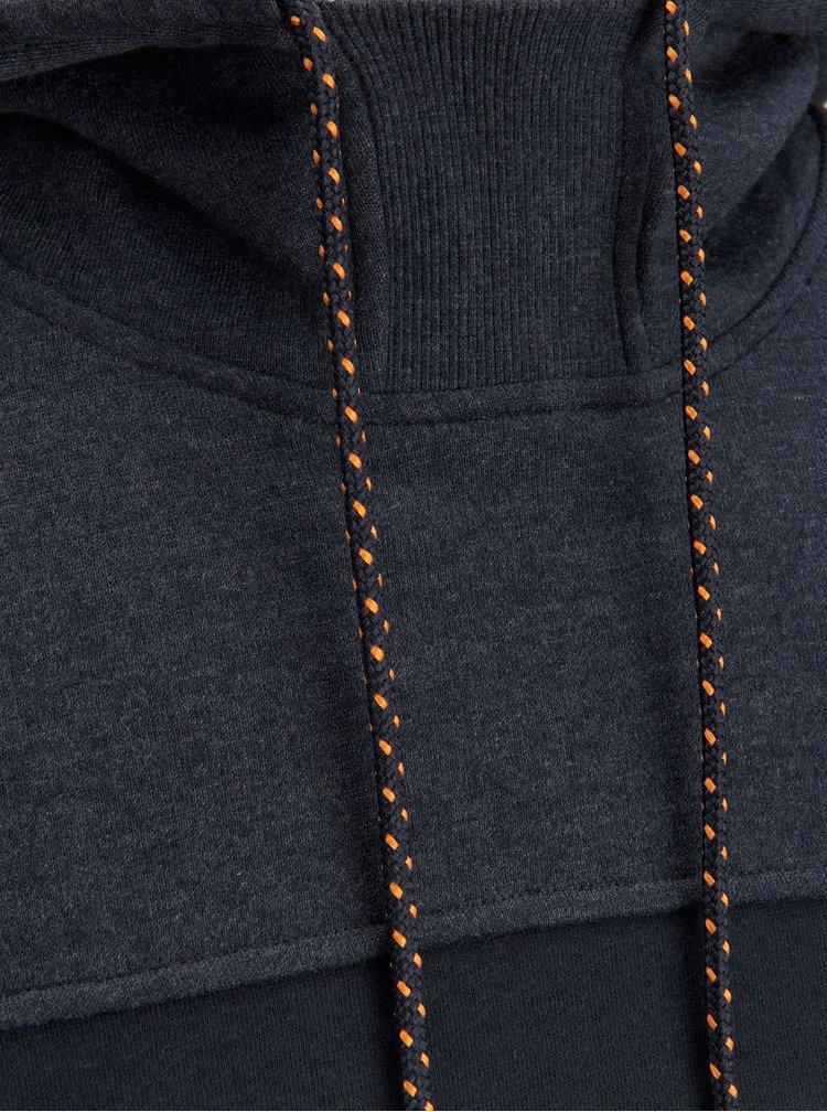 Tmavě modrá žíhaná mikina s kapucí Jack & Jones Part