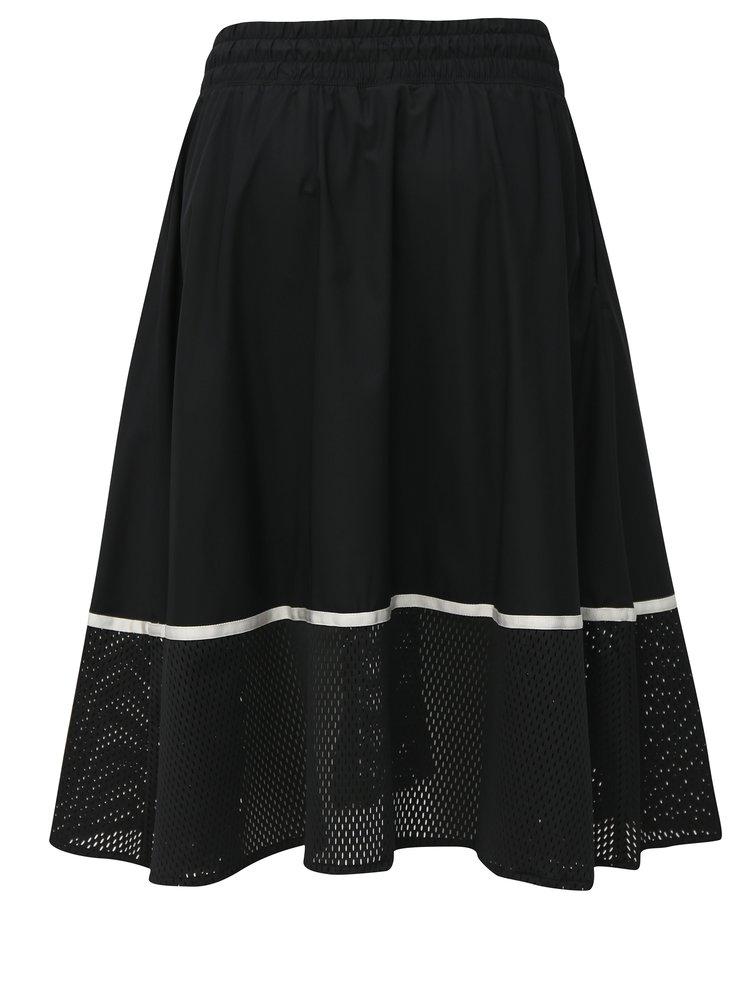 Bílo-černá sukně s elastickým pasem Nike Mesh