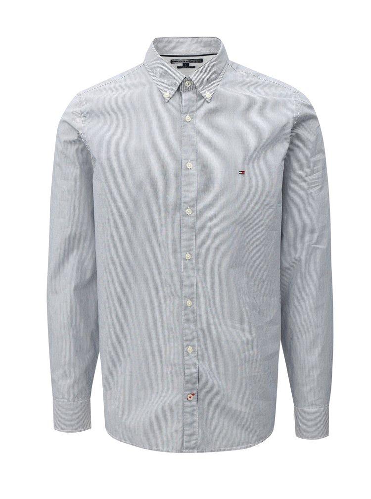 Bílo-modrá pánská slim fit pruhovaná košile Tommy Hilfiger