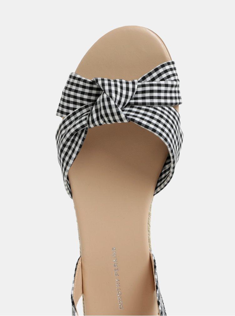 Černo-bílé kostkované sandály Dorothy Perkins