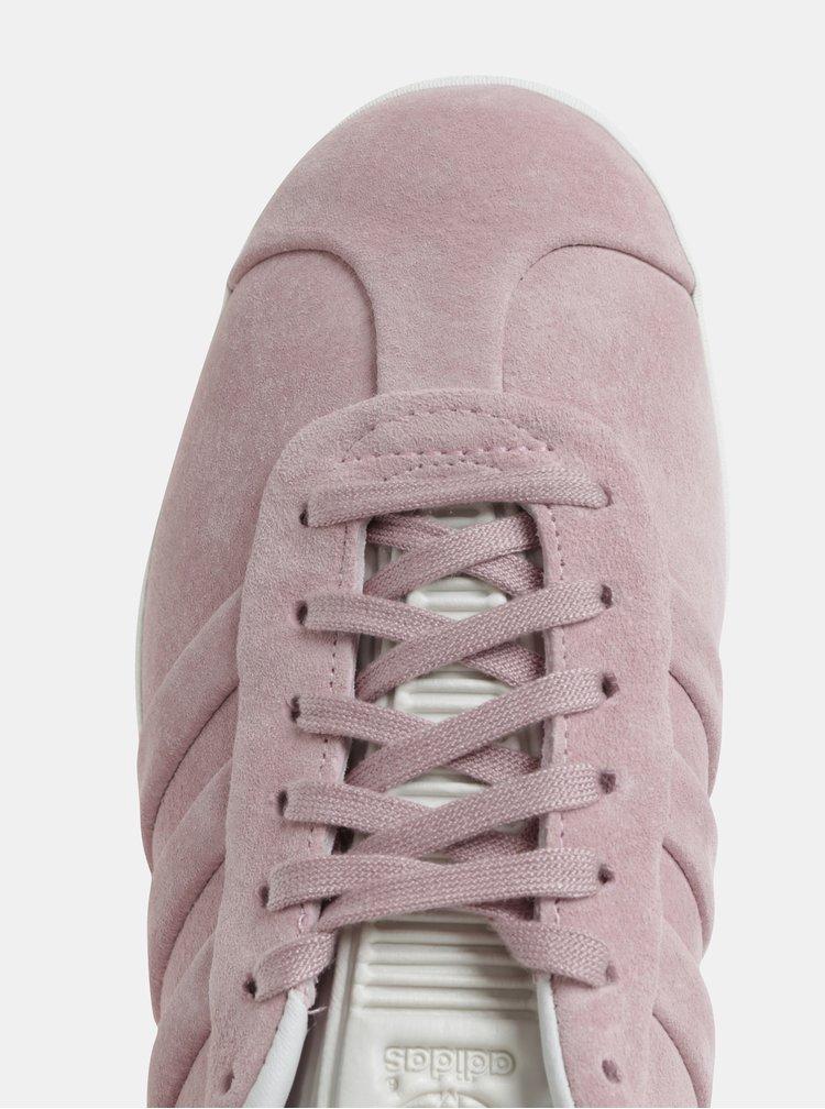 Růžové dámské semišové tenisky adidas Originals Gazelle