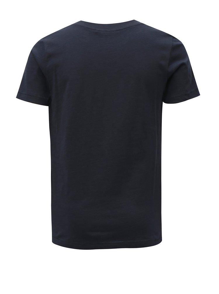 Tmavě modré klučičí tričko s potiskem LIMITED by name it Mlui